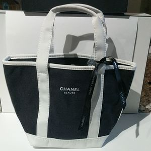 Chanel makeup tote